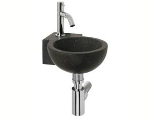 Fontein Natuursteen Toilet : F design fonteinset black corner b.27 x d.27 x h.10 cm hardsteen