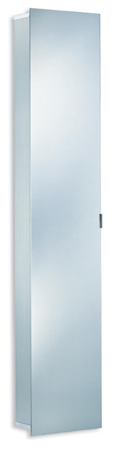 ASP 300 Alu Spiegelkast hoge kast. Afmetingen: B.35 x H.175 x D.17 cm