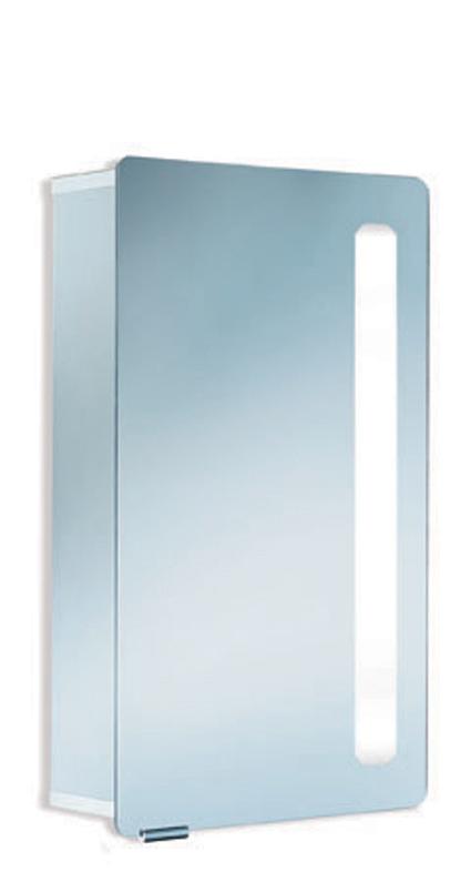 HSK ASP Softcube Aluminium Spiegelkast, B.105 x H.75 x D.17 cm