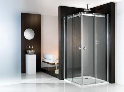 Schuifdeur Voor Badkamer : Hsk atelier douchecabine schuifdeur hoekinstap mm veiligheidsglas