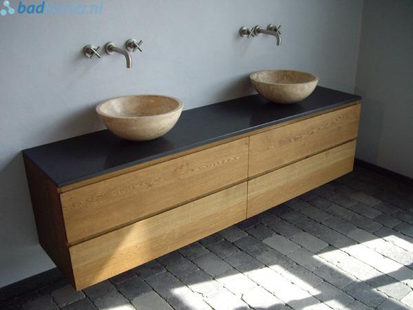 Design Maatwerk Eiken Badmeubel 140 x 50 x 50 cm