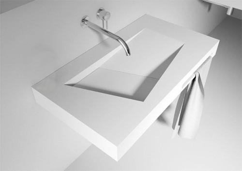 Lanesto solid marmo zonder kraangat glans wastafel