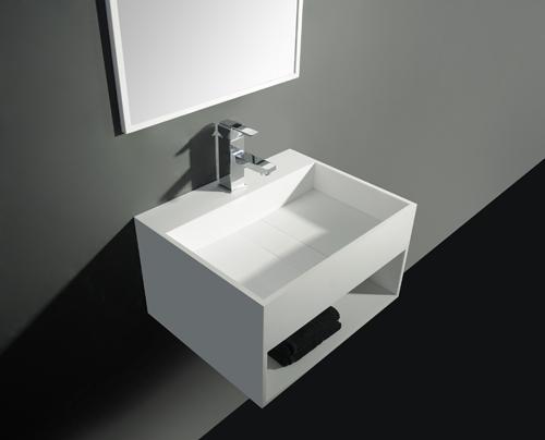 Solid Surface Design Wastafel San Jordi II, B 60 x D 46 x H 30 cm # Ukuran Washbak_110422