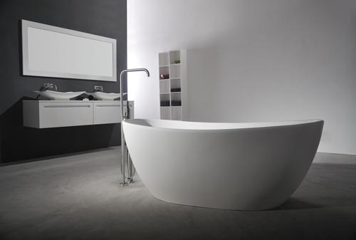 Badkamermeubel Houtlook ~   solid surface vrijstaand bad zen xl solid surface vrijstaand bad zen