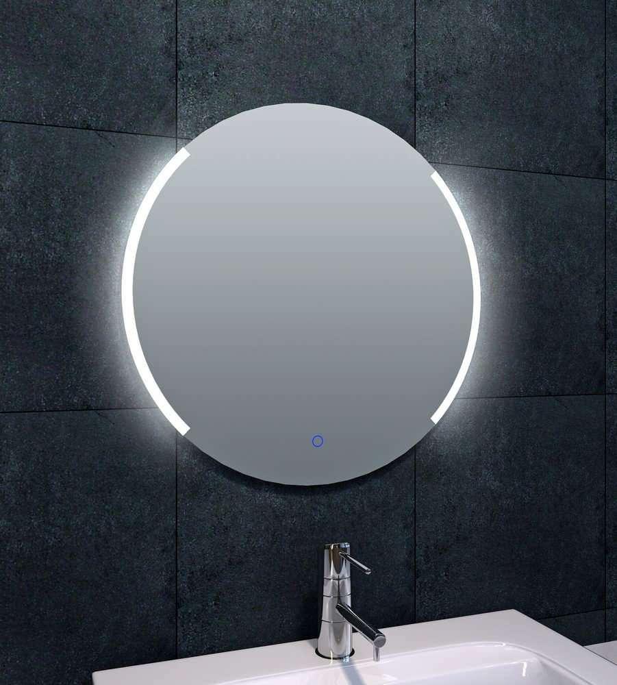 Led Verlichting Spiegelkast Badkamer.Arcon Ronde Badkamer Spiegel Met Dimbare Led Verlichting