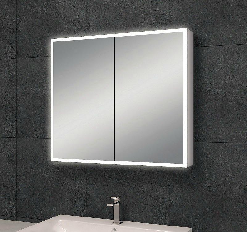 Arcon aluminium spiegelkast met led x x cm for Spiegelkast 80 cm