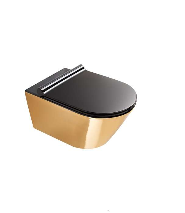 Catalano Zero Gold en Black Rimfree Toilet