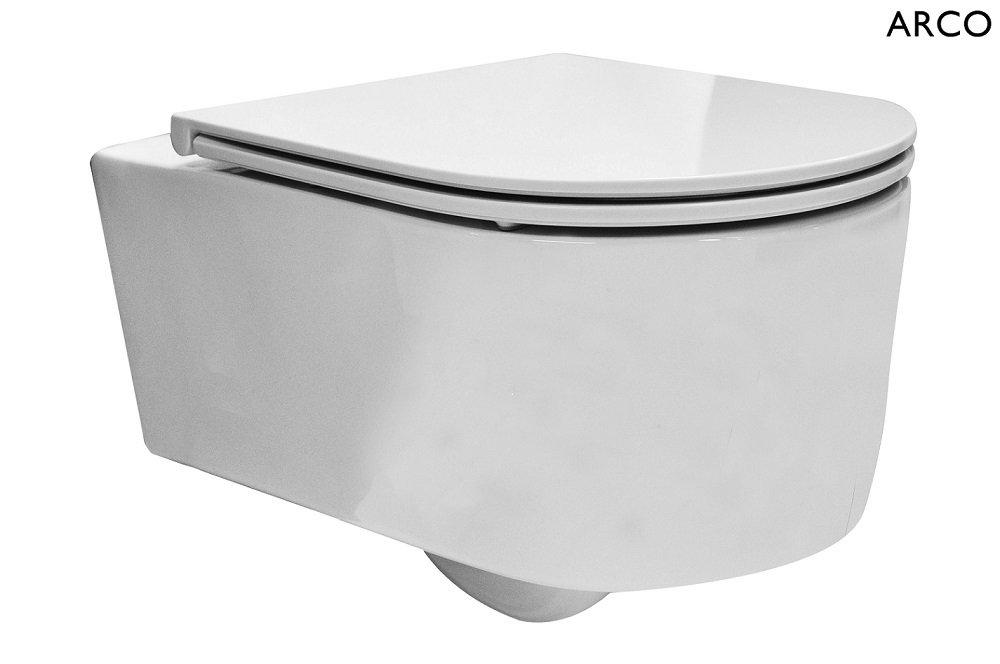 Toilet Zonder Spoelrand : F design toilet arco rimfree zonder spoelrand wandcloset softclose