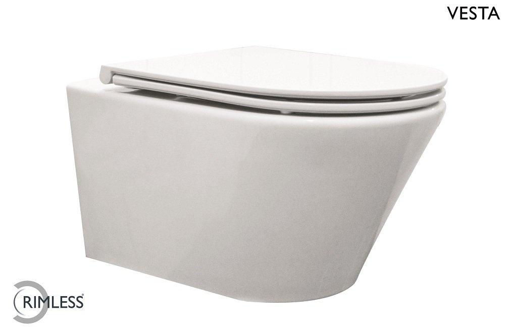 Toilet Zonder Spoelrand : F design milaan wandcloset rimfree cm zonder spoelrand