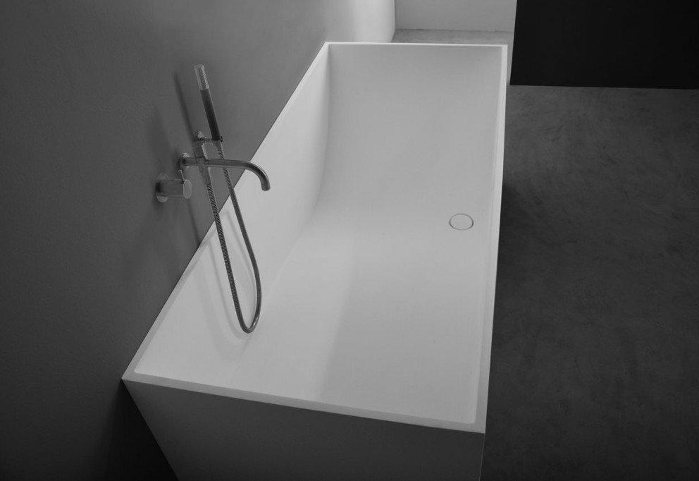 Solid Surface Badkamer : Solid surface vrijstaand bad vadella l b cm in mat wit