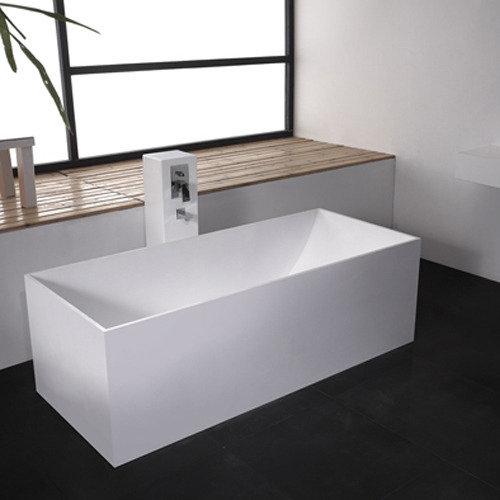 Vrijstaand Bad Mat Wit.Solid Surface Vrijstaand Bad Vadella S L 170 X B 72 Cm In Mat Wit