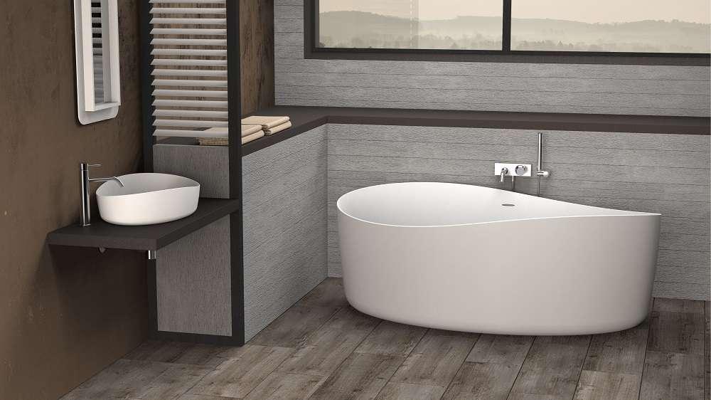 Badkamer Vrijstaand Bad : Landelijke badkamer met bronzen accenten taps baths