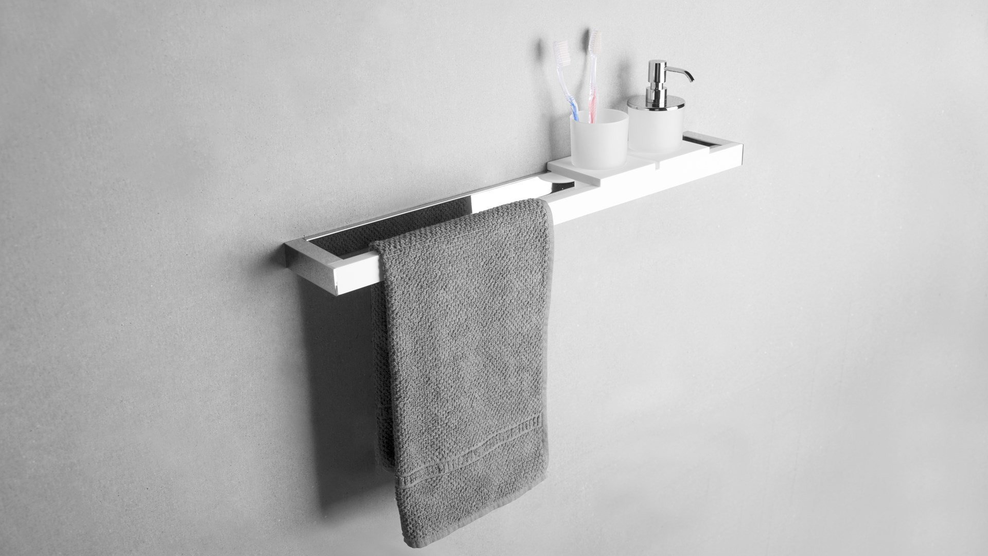 Solid Surface Handdoek bar combinatie 60 cm SolidChroom