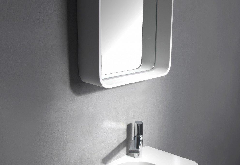Solid Surface Planchet Spiegel B.90 x H.60 x D.12 cm