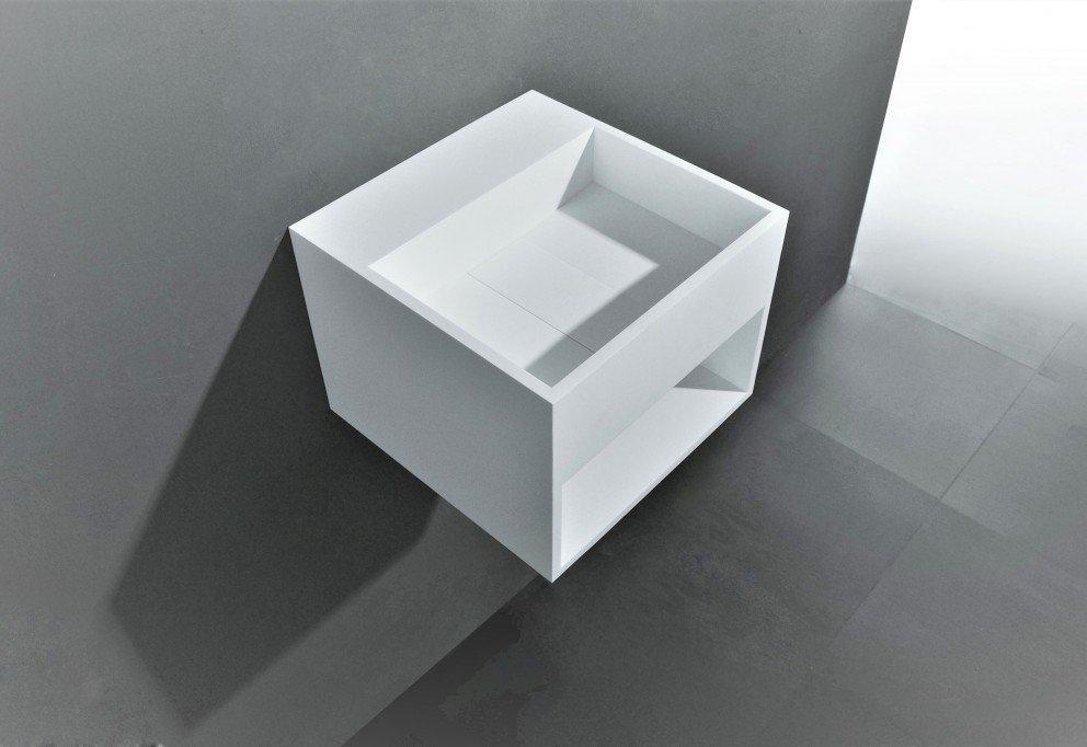 Solid Surface Wastafel : Solid surface fontein san jordi i b.30 x d.30 cm in mat wit