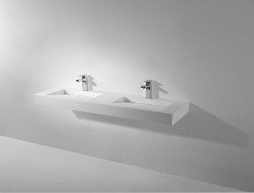 Solid Surface Design Dubbele Wastafel Manya XL Afmeting: B 150 x D ...