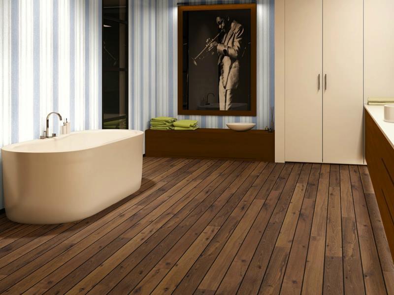Quick-Step Lagune legt laminaat in de badkamer