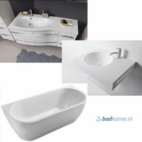 verschillende badkamer materialen